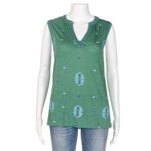 NWT Lucky Brand tank top Large green blue shirt